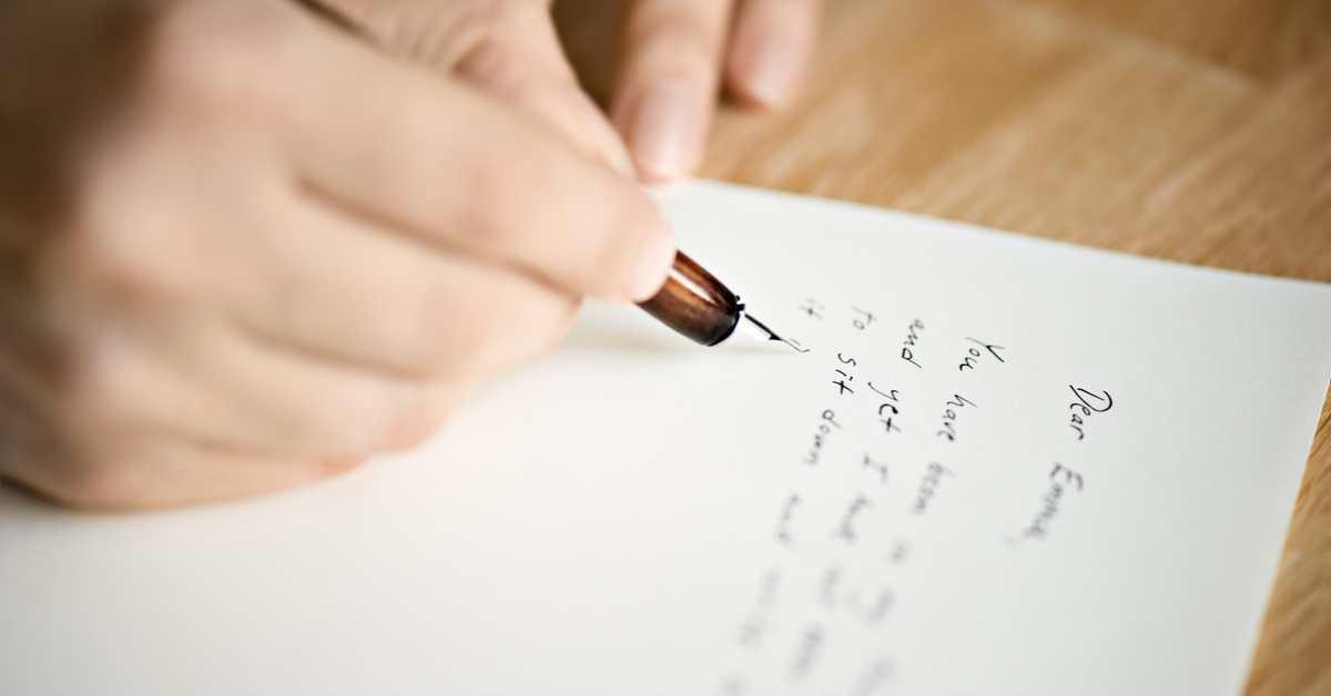 List terapeutyczny - najprostszy sposób wyrażenia emocji